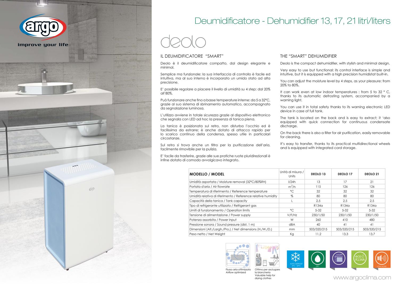 Argo deolo 17 opinioni prezzi acquista online e - Deumidificatore a parete prezzi ...